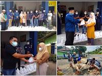 DPD Nasdem Lamsel Bagikan Ratusan Paket Daging Kurban Kepada Warga