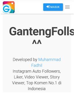 Gantengfollows com || Cara menambah Followers secara cepat dengan Gantengfolls.com