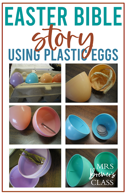 Telling the Easter Bible story using plastic eggs