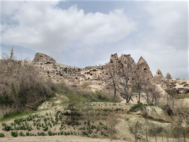 Uçhisar vista dalla valle dei piccioni