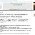 O efeito dos carboidratos dietéticos na doença do refluxo gastroesofágico.