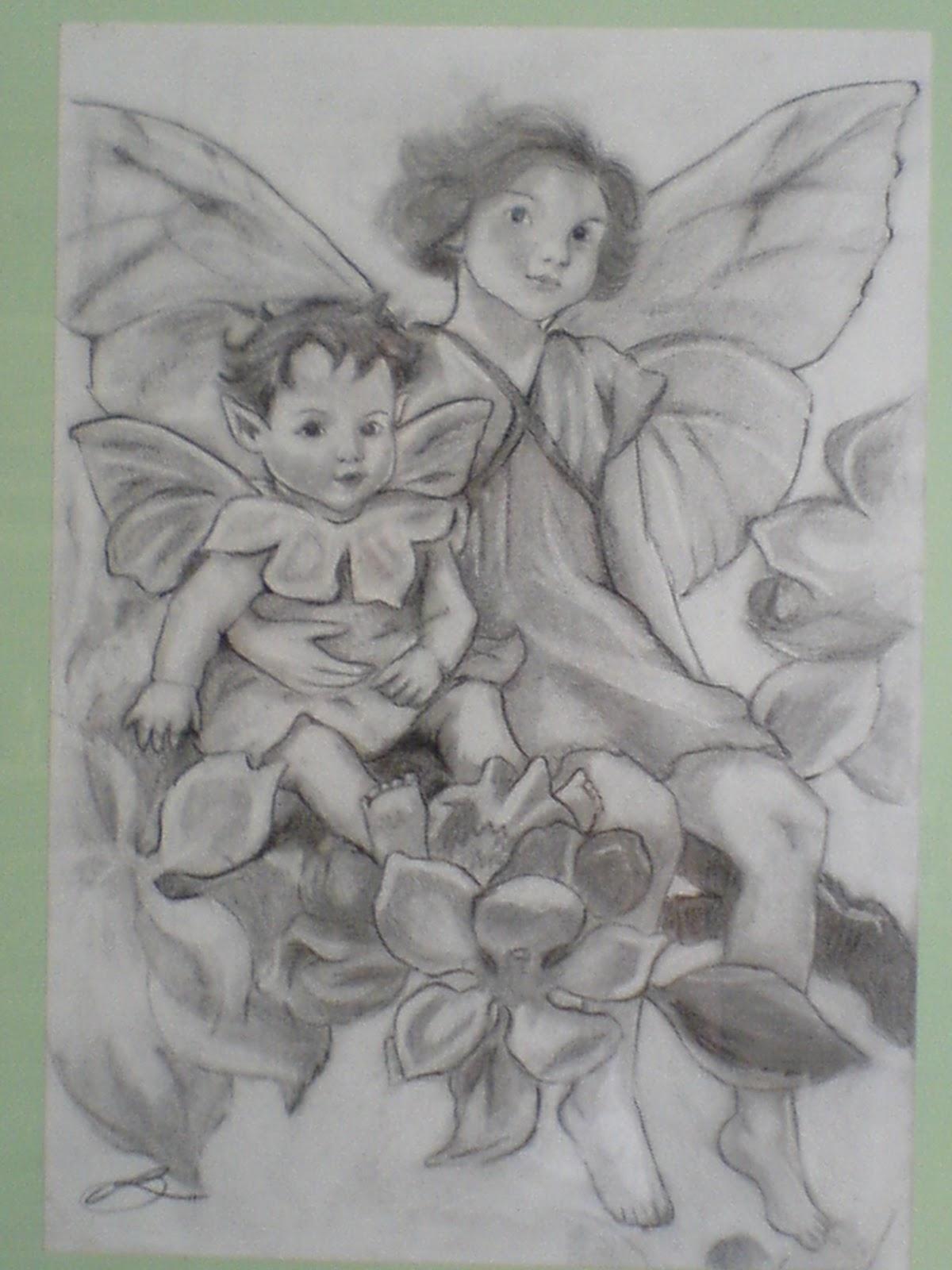 Hadas A Carboncillo Ilustradora Rosa Delia Medina Naranjo