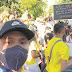 Cucho se unió a las marchas en España