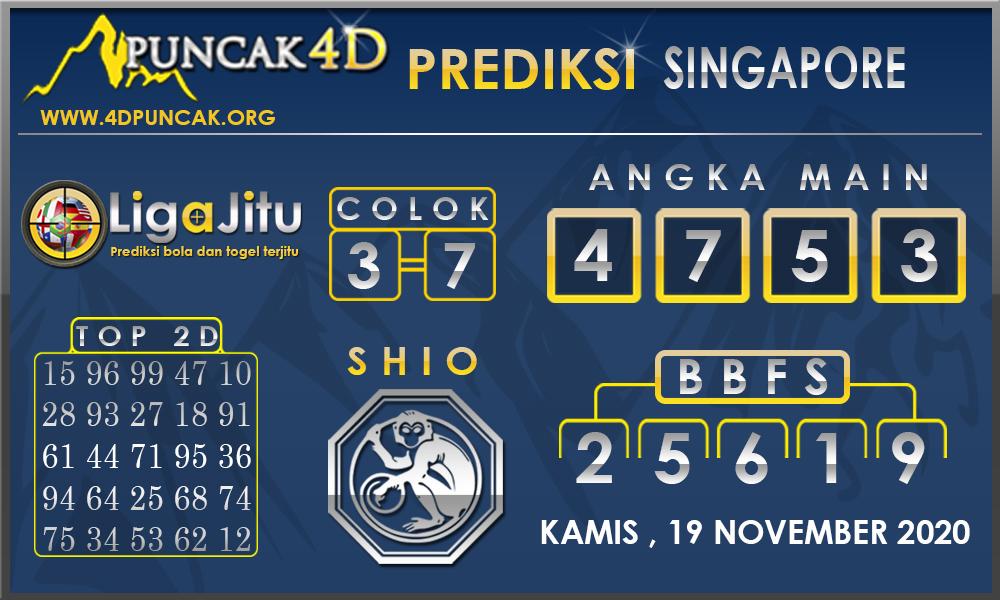 PREDIKSI TOGEL SINGAPORE PUNCAK4D 19 NOVEMBER 2020