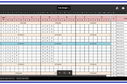 Aplikasi Excel Jadwal Pelajaran Anti Bentrok SD SMP dan SMA