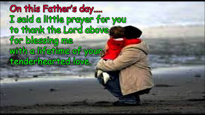 father's day from daughter: i said a little prayer for you