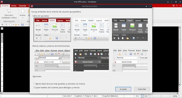 Free Office Ofimática compatible y de multiplataforma (GNU/Linux , Windows , MacOSx y android)
