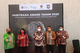 Hotbonar Sinaga Apresiasi Presentasi Steven Kandouw Saat Pemaparan Kandidat Paritrana Award 2020