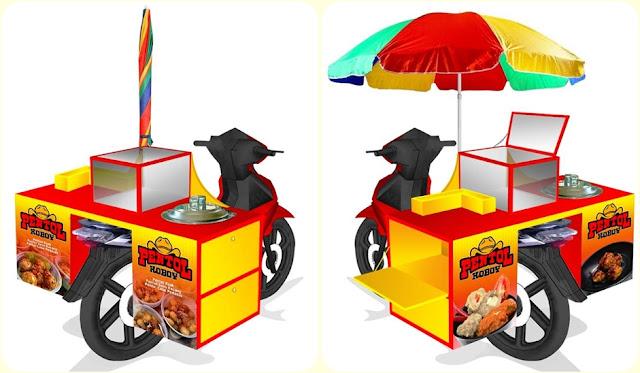Gerobak motor-Gerobak motor bakso-Gerobak motor pentol