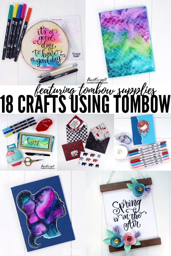 18 crafts to make using Tombow art supplies