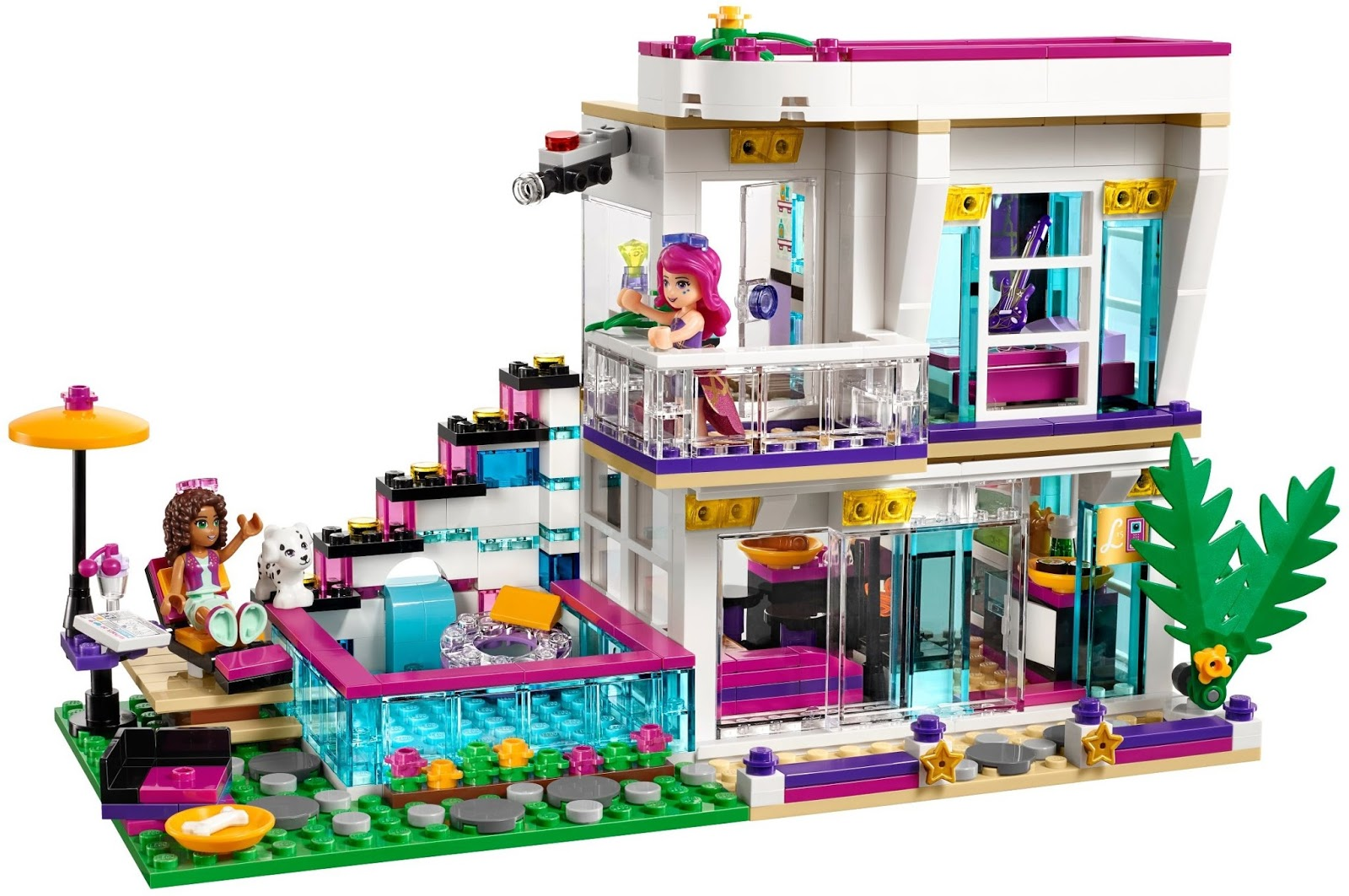 Lego Friends Piscina Heartlake Times Spotlight Pop Star House And Tv Studio