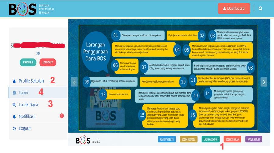 Cara Verifikasi dan Validasi Laporan Keuangan BOS melalui bos Online