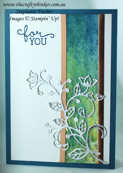 #thecraftythinker , #cardmaking , #brusho , #stampinup , Brusho, Flourish Thinlits, Making the Most of Mistakes, Stampin' Up! Australia Demonstrator, Stephanie Fischer, Sydney NSW