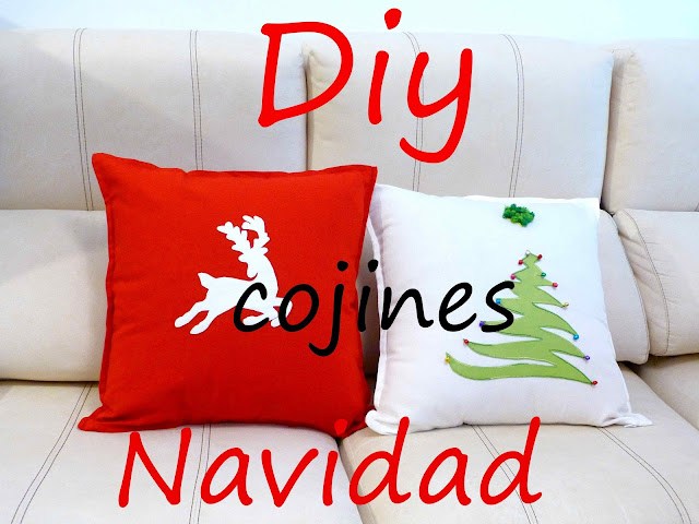 Do it yourself cojines Navidad