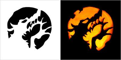 Scary Halloween Pumpkin Designs Stencils