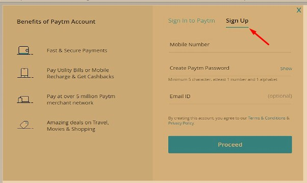 How to open a paytm account ?