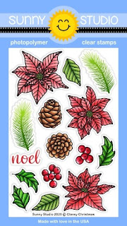Sunny Studio Stamps Classy Christmas 4x6 Clear Photo-polymer Stamp Set
