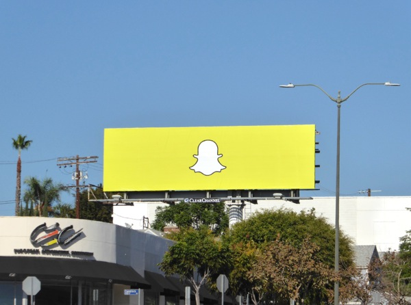 Snapchat ghost logo billboard