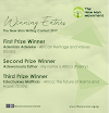 Winning Entries from The New Man Writing Contest (NMWC) 2019