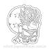Among Us Super Saiyan Goku Sticker para Colorir