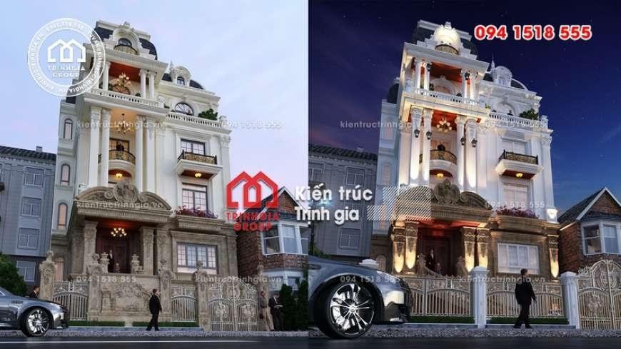 Mẫu biệt thự 4 tầng tân cổ điển đẹp sang lộng lẫy ở Hà Nội - Mã số BT2820 - Ảnh 2