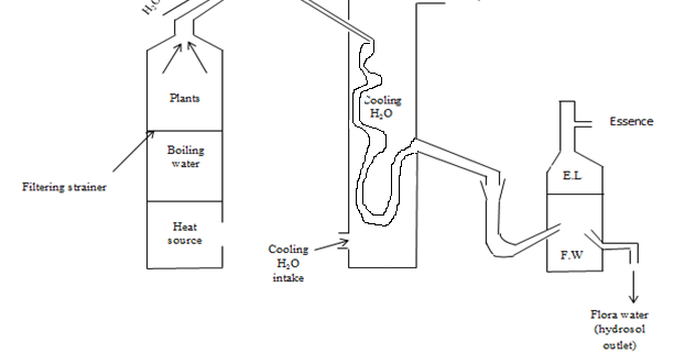 essential oil distillation diagram
