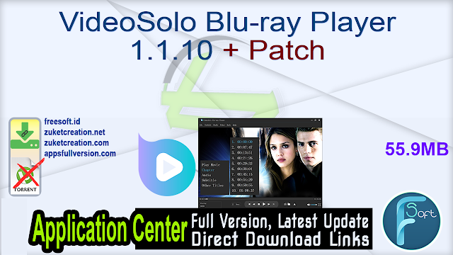 VideoSolo Blu-ray Player 1.1.10 + Patch