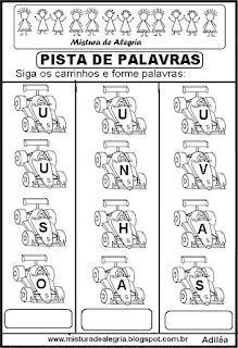 Formando palavras com a letra U