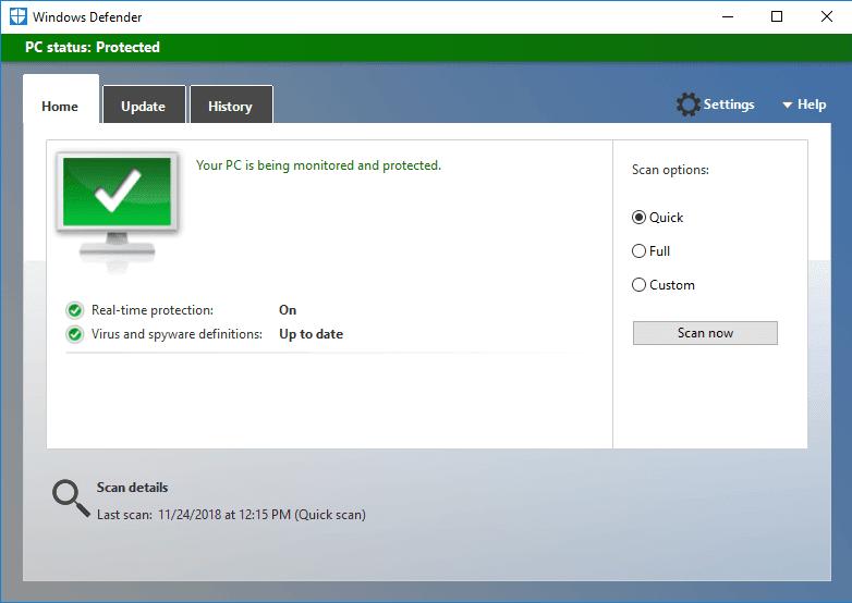 Cek laptop dengan antivirus
