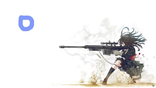 Anime Girl Holding Gun