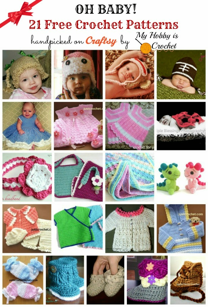 21 Free Crochet Baby Patterns handpicked on Craftsy by My Hobby is Crochet