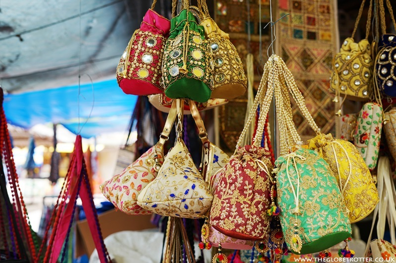 Colourful bags at Shilparamam Arts and Crafts Village
