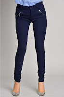 Pantalon Addie bleumarin mulat casual