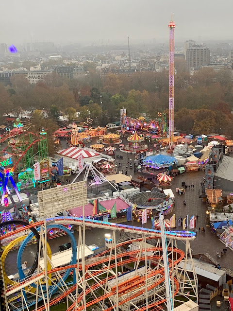 View of Hyde Park Winter Wonderland from the Giant Wheel