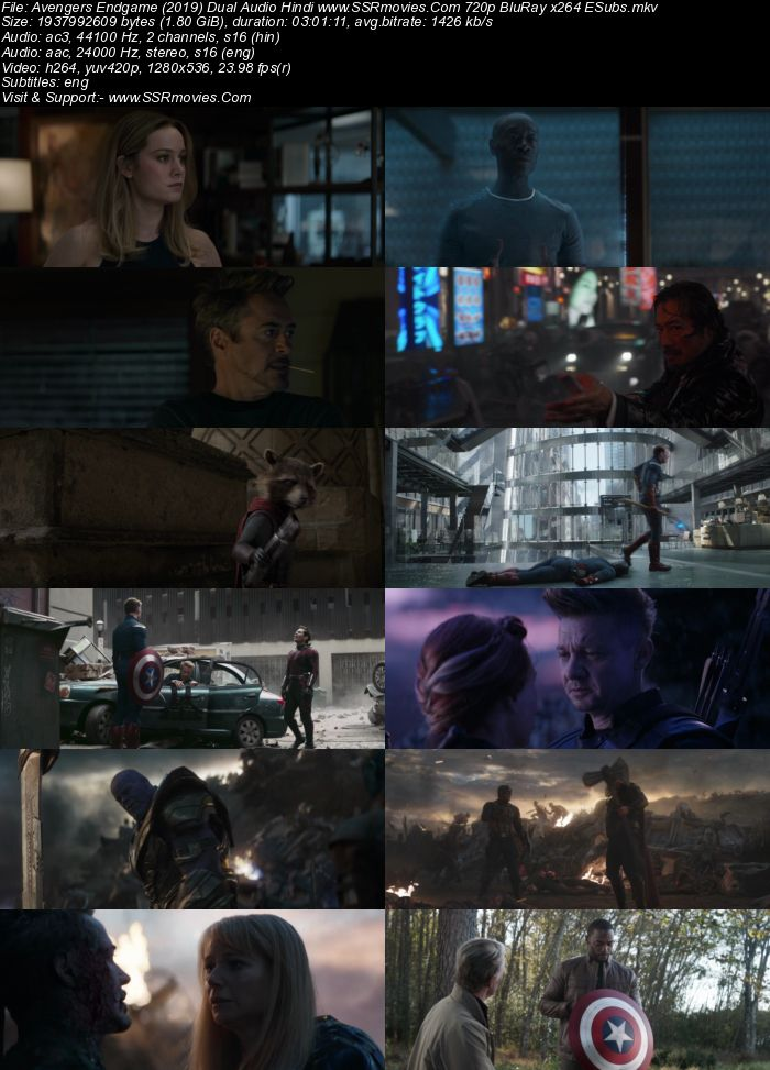 Avengers Endgame (2019) Dual Audio Hindi 720p BluRay x264 ESubs Movie Download