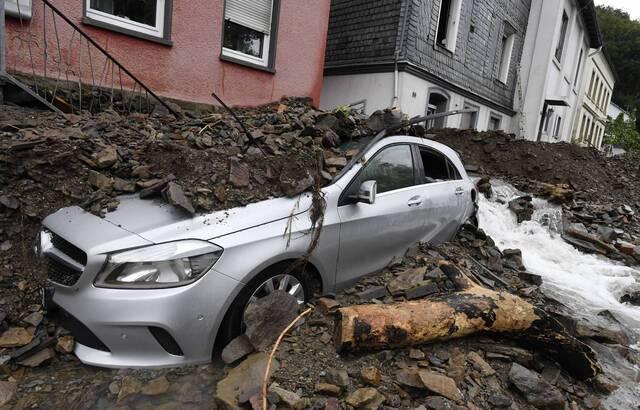 The damage in the town of Hagen. - Roberto Pfeil / AP / SIPA