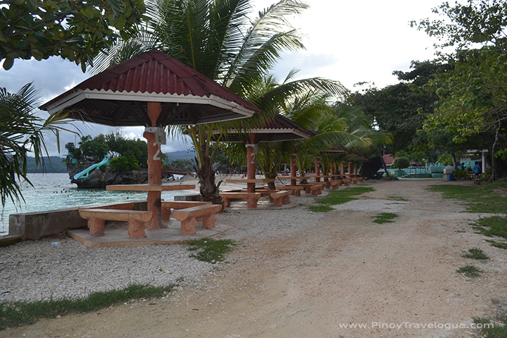 Salagdoong Beach Resort's concrete table cottages