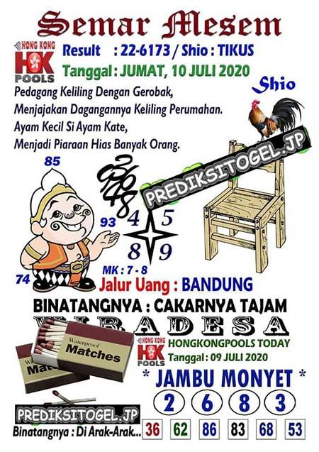 Semar Mesem HK Jumat 10 Juli 2020