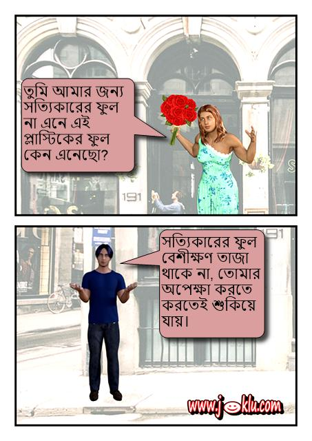 Artificial flowers Bengali joke