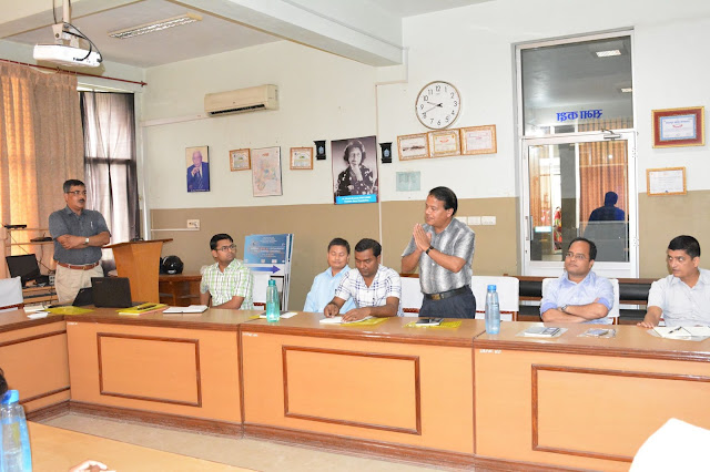 YD Sapkota, Dr Suresh Rasaili at Lumbini eye institute IAPB Raab Training