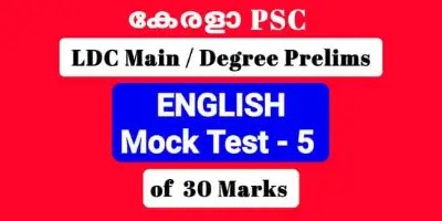 Mock Test of 30 Important Previous General English Questions LDC Main / Degree Level Prelims