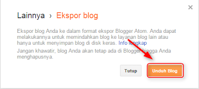 Cara backup posting di blogger.com
