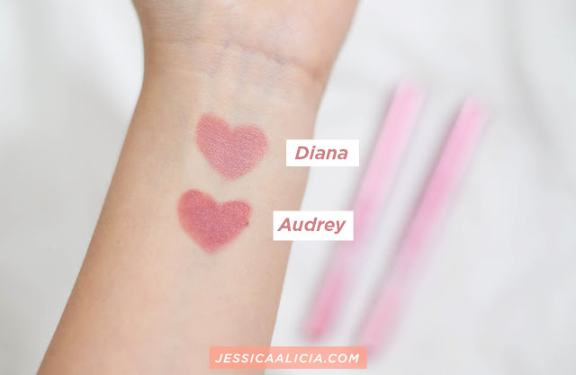 Review : Jacquelle x Ludovica Jessica EasyGoin' Lip Star (Diana & Audrey) by Jessica Alicia