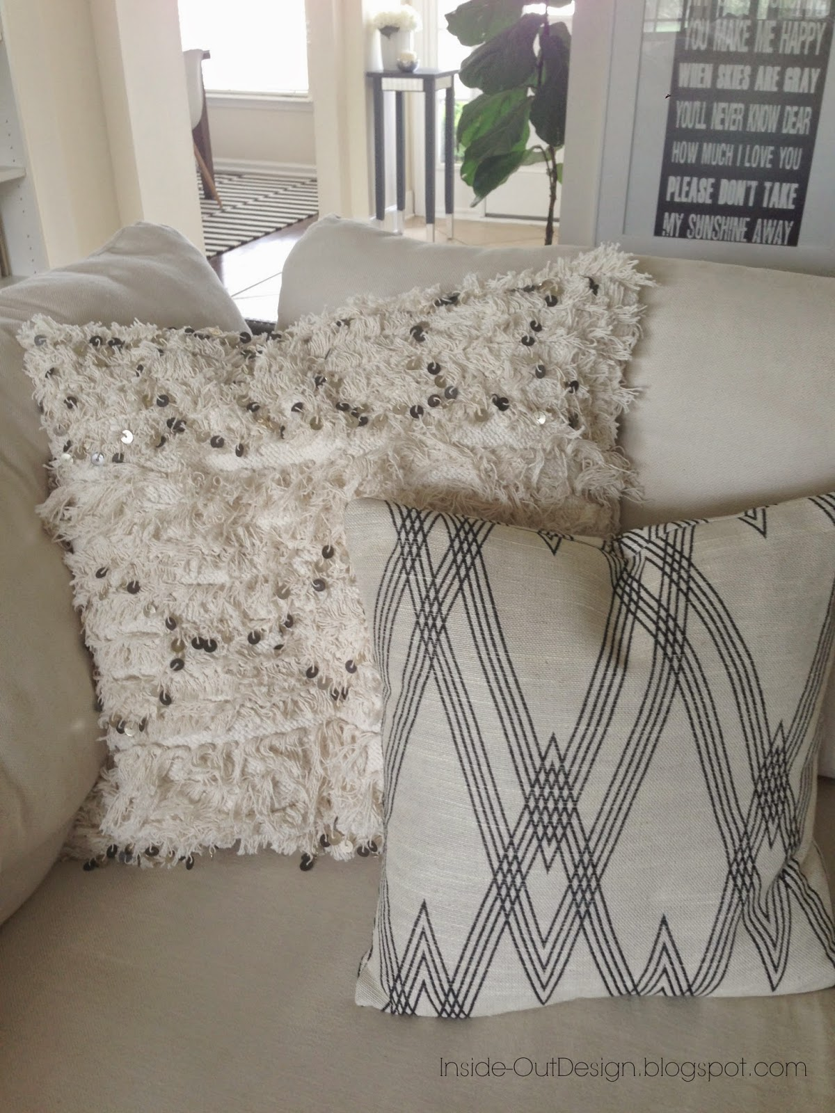 Inside-Out Design: Moroccan Wedding Blanket Pillow Covers