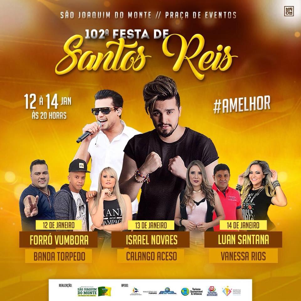 Prefeitura de São Joaquim do Monte divulga programação da 102ª Festa de Santos Reis