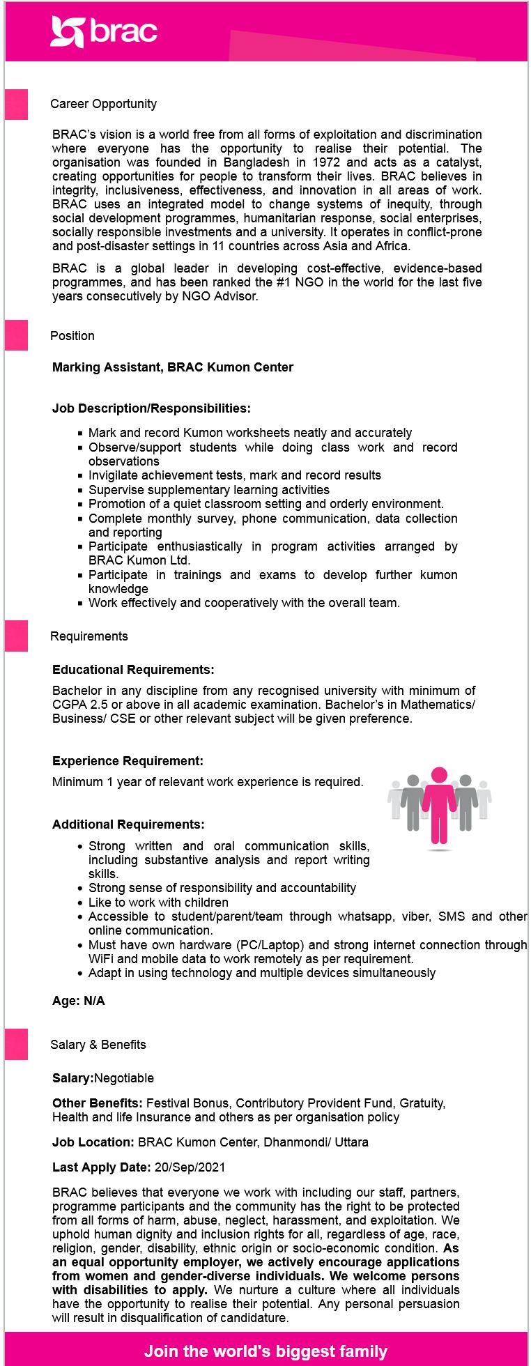 ব্র্যাক এনজিও নিয়োগ বিজ্ঞপ্তি ২০২১ , BRAC NGO Job Circular 2021 ,ব্রাক এনজিওতে নিয়োগ ২০২১,  এনজিও নিয়োগ বিজ্ঞপ্তি ২০২১