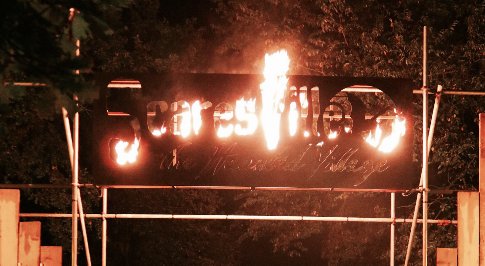 Photo of Scaresville Flaming Sign