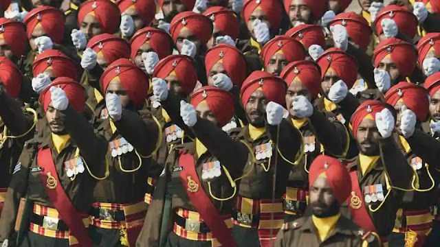 Punjab regiment marching drill
