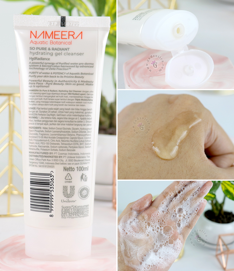 Review Nameera Gel Cleanser