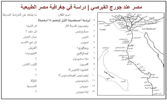 مصر عند جورج القبرصي | دراسة في جغرافية مصر الطبيعية